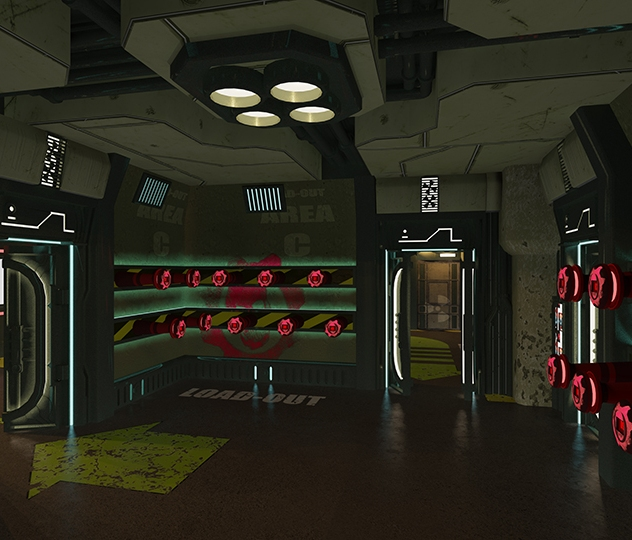 Gears of War - Kit-out area - 3D design