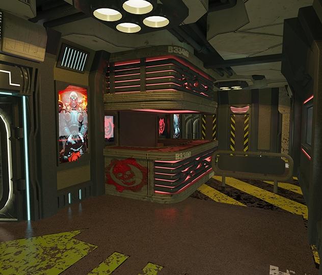 Gears of War - Main desk - 3D design