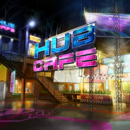 Hub Cafe - paintover