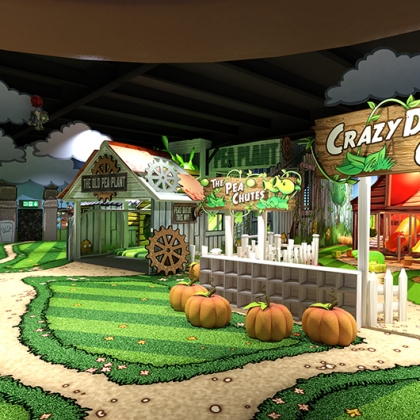 Plants vs Zombies - Connecting areas - 3D design