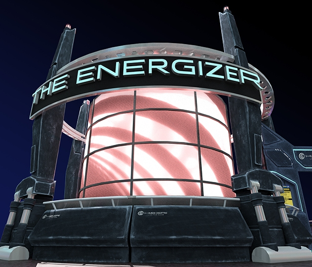 The Energizer - Main attraction - 3D design
