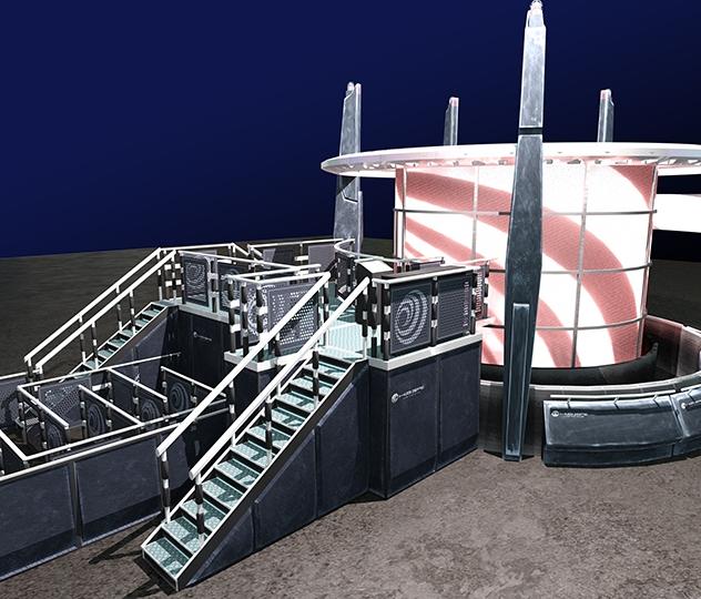 The Energizer - Queue line development - 3D design